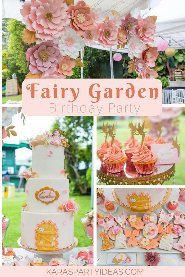 Fairy Garden Birthday Party via Kara's Party Ideas - KarasPartyIdeas.com
