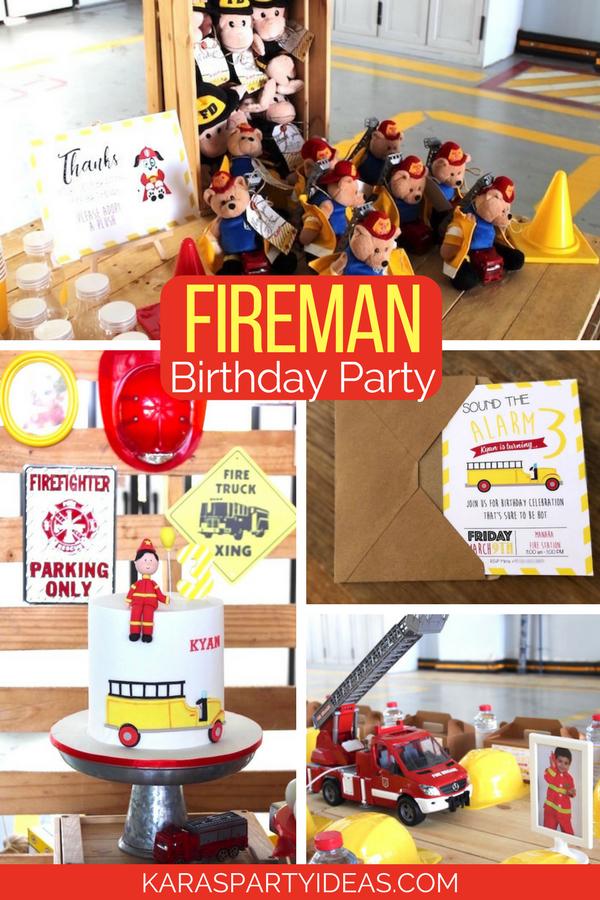 Fireman Birthday Party via KarasPartyIdeas - KarasPartyIdeas.com (1)