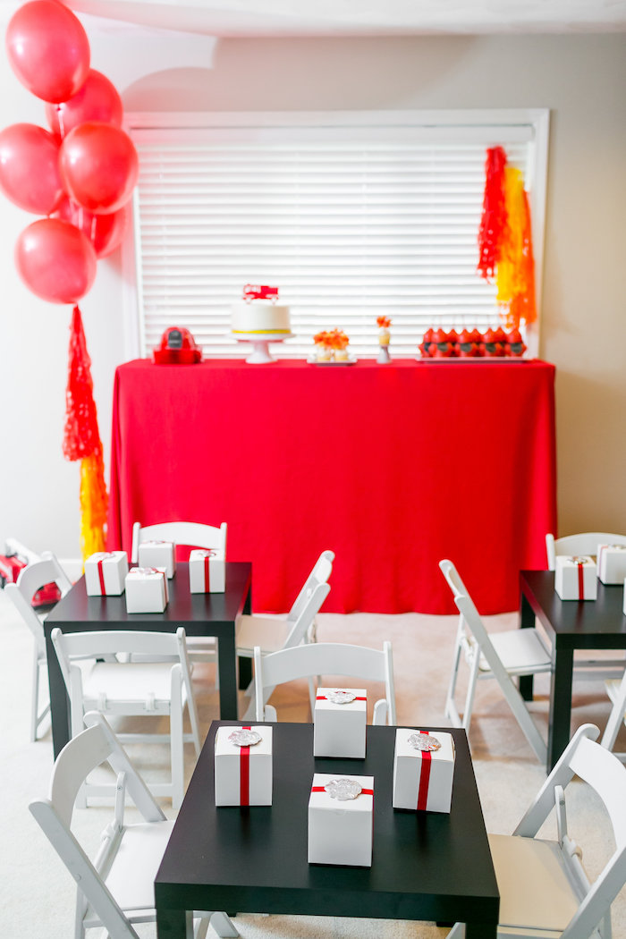 Firetruck Birthday Party on Kara's Party Ideas | KarasPartyIdeas.com (12)