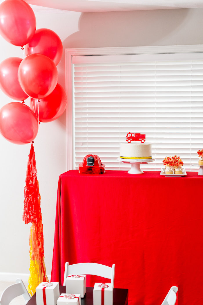 Firetruck Birthday Party on Kara's Party Ideas | KarasPartyIdeas.com (8)