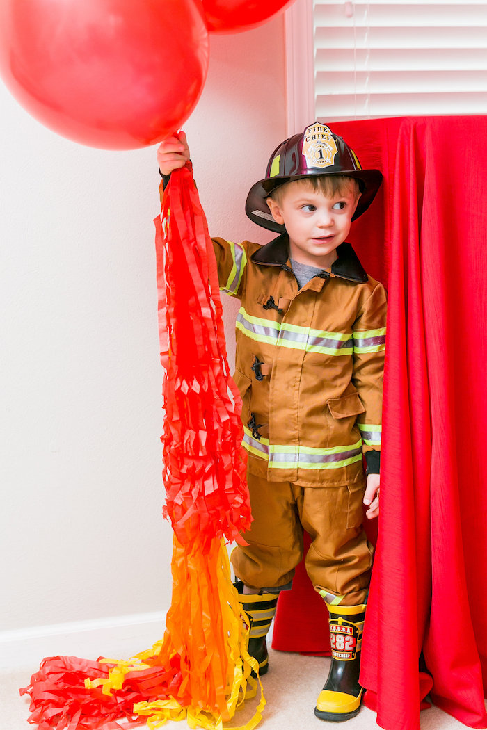 Firetruck Birthday Party on Kara's Party Ideas | KarasPartyIdeas.com (5)