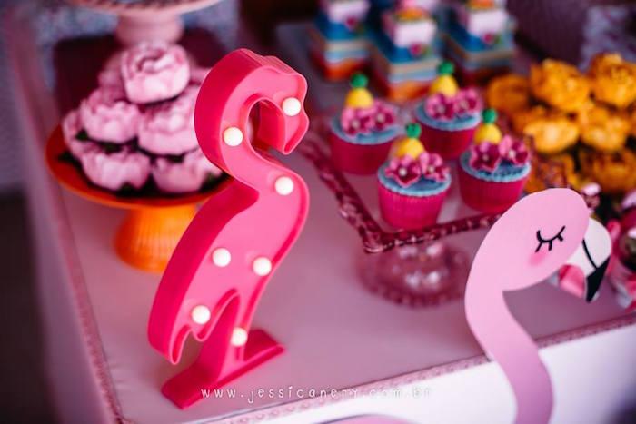 Flamingo Marquee Light from a Flamingo Pool Party on Kara's Party Ideas | KarasPartyIdeas.com (17)