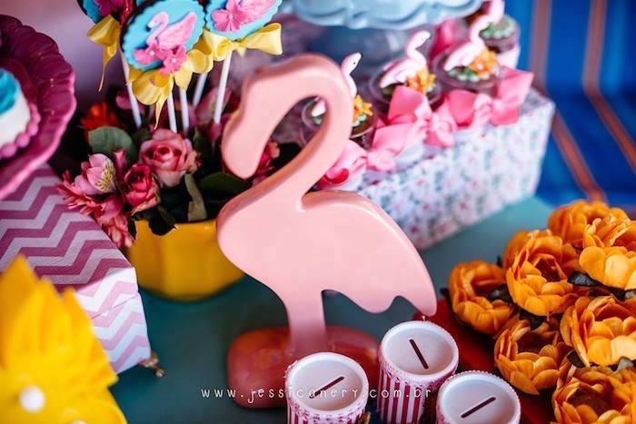 Flamingo Decoration from a Flamingo Pool Party on Kara's Party Ideas | KarasPartyIdeas.com (12)