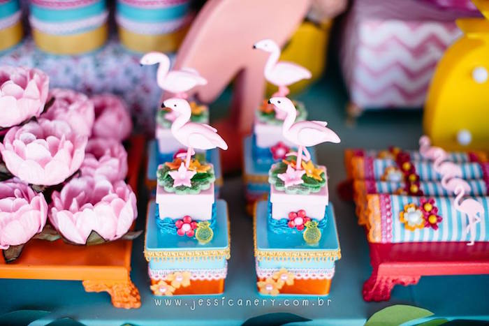 Flamingo Favors from a Flamingo Pool Party on Kara's Party Ideas | KarasPartyIdeas.com (8)