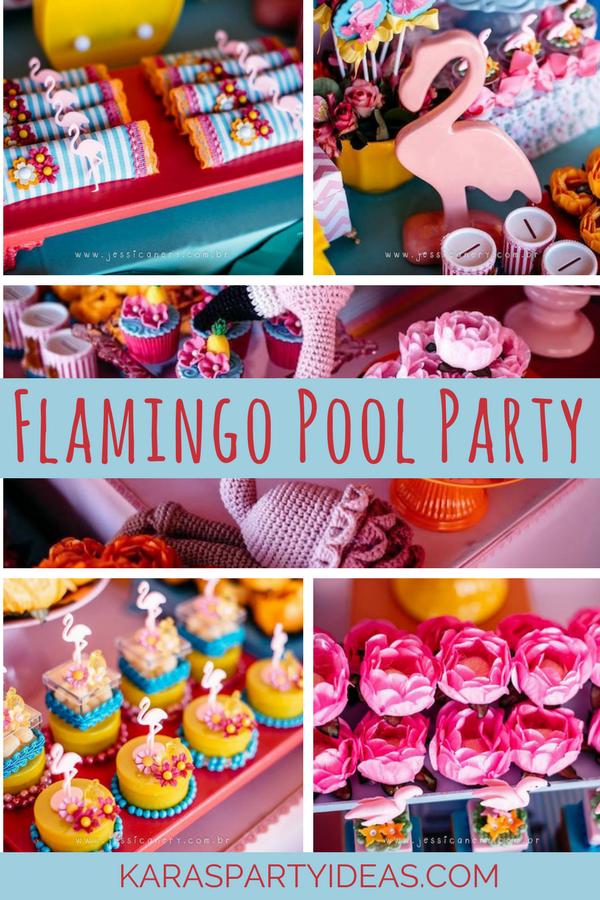 Flamingo Pool Party via Kara's Party Ideas - KarasPartyIdeas.com