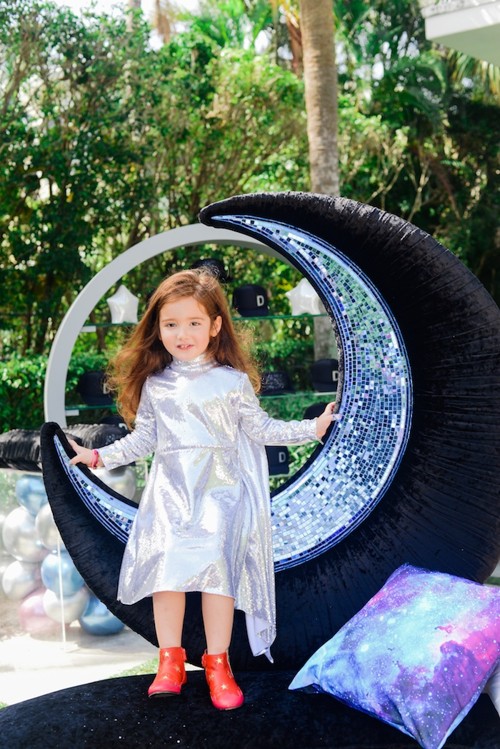 "Moon Sofa from a Galactic ""Out of this World"" Birthday Party on Kara's Party Ideas 