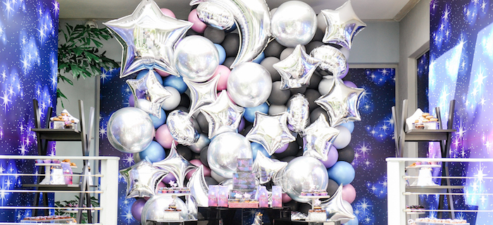 """Galactic """"Out of this World"""" Birthday Party on Kara's Party Ideas 