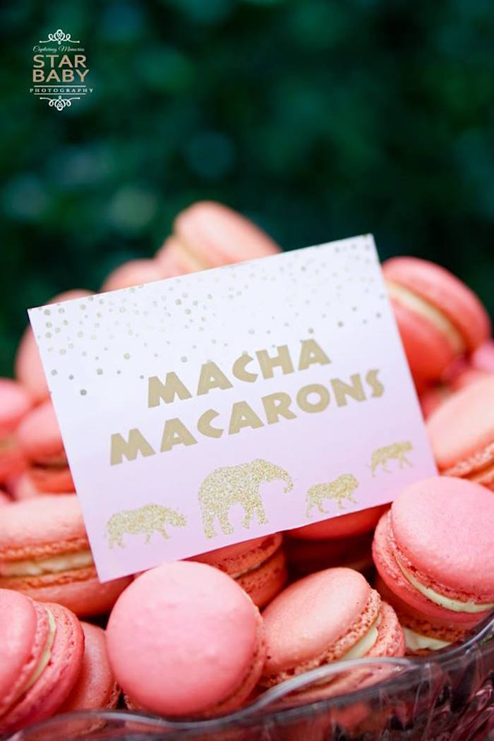 Macha Macarons from a Girly Safari Party on Kara's Party Ideas | KarasPartyIdeas.com (23)