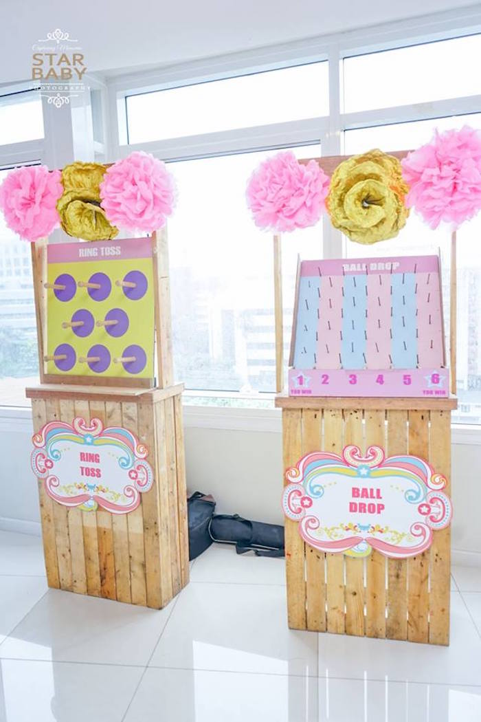 Game Stands from a Girly Safari Party on Kara's Party Ideas | KarasPartyIdeas.com (19)