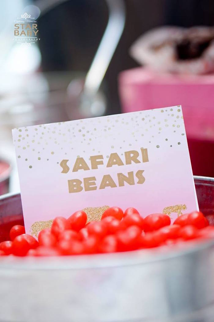 Safari Beans from a Girly Safari Party on Kara's Party Ideas | KarasPartyIdeas.com (13)