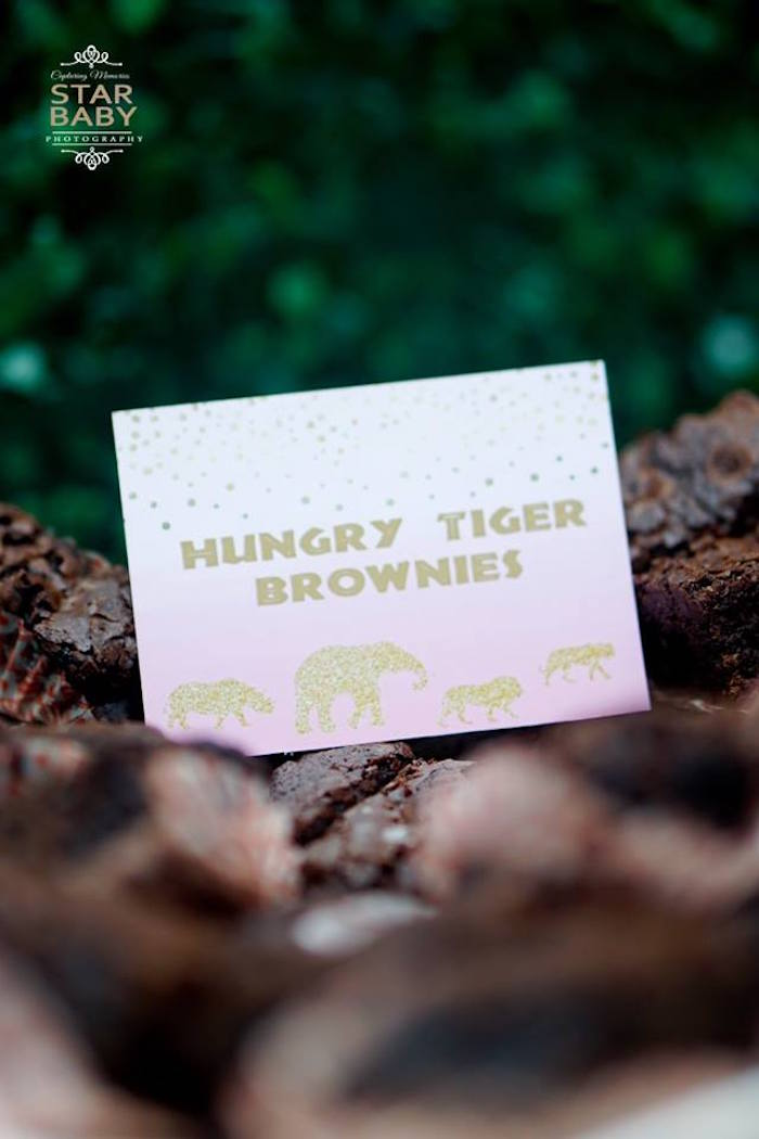 Hungry Tiger Brownies from a Girly Safari Party on Kara's Party Ideas | KarasPartyIdeas.com (9)