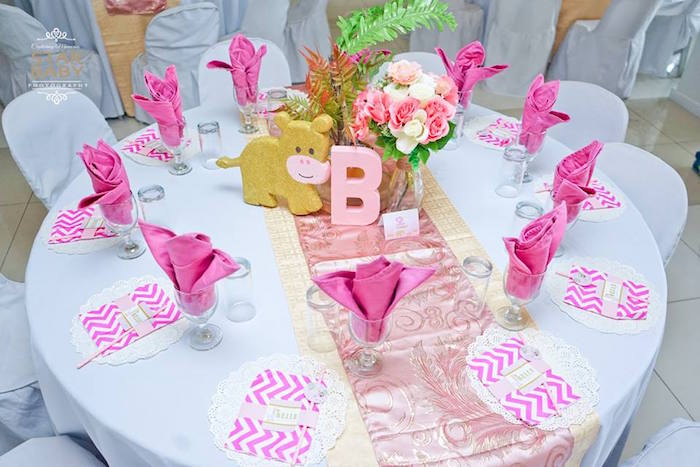 Safari Themed Guest Table from a Girly Safari Party on Kara's Party Ideas | KarasPartyIdeas.com (33)