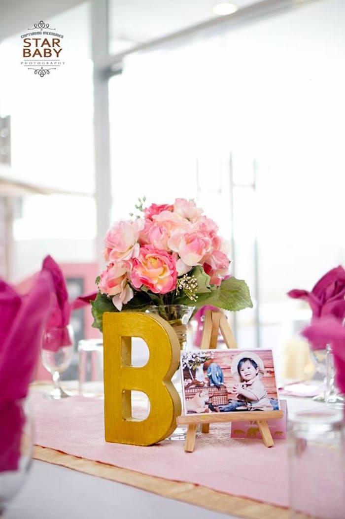 Table Centerpiece from a Girly Safari Party on Kara's Party Ideas | KarasPartyIdeas.com (27)