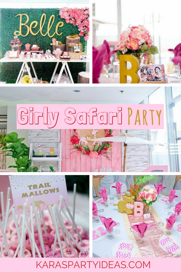 Girly Safari Party via KarasPartyIdeas - KarasPartyIdeas.com
