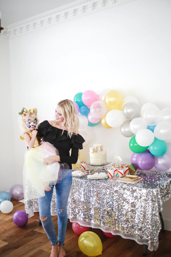 Glam Dessert Table from a Heart of Gold Birthday Party on Kara's Party Ideas | KarasPartyIdeas.com (11)