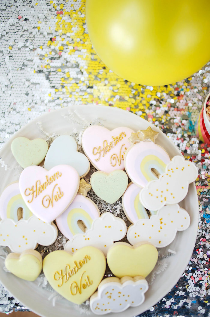 Cookies from a Heart of Gold Birthday Party on Kara's Party Ideas | KarasPartyIdeas.com (8)