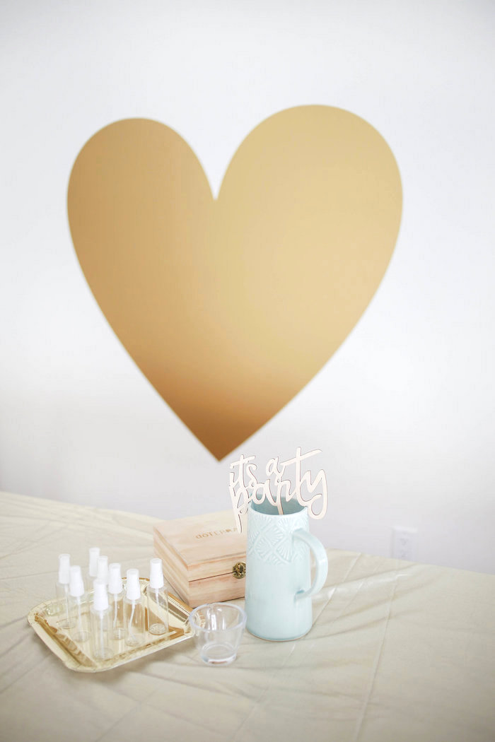 Gold Heart from a Heart of Gold Birthday Party on Kara's Party Ideas | KarasPartyIdeas.com (19)