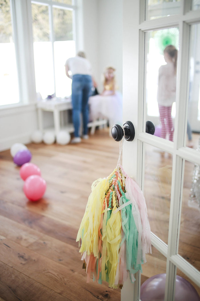 Door knob tassel from a Heart of Gold Birthday Party on Kara's Party Ideas | KarasPartyIdeas.com (18)
