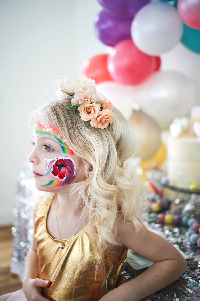Floral Crown from a Heart of Gold Birthday Party on Kara's Party Ideas | KarasPartyIdeas.com (16)