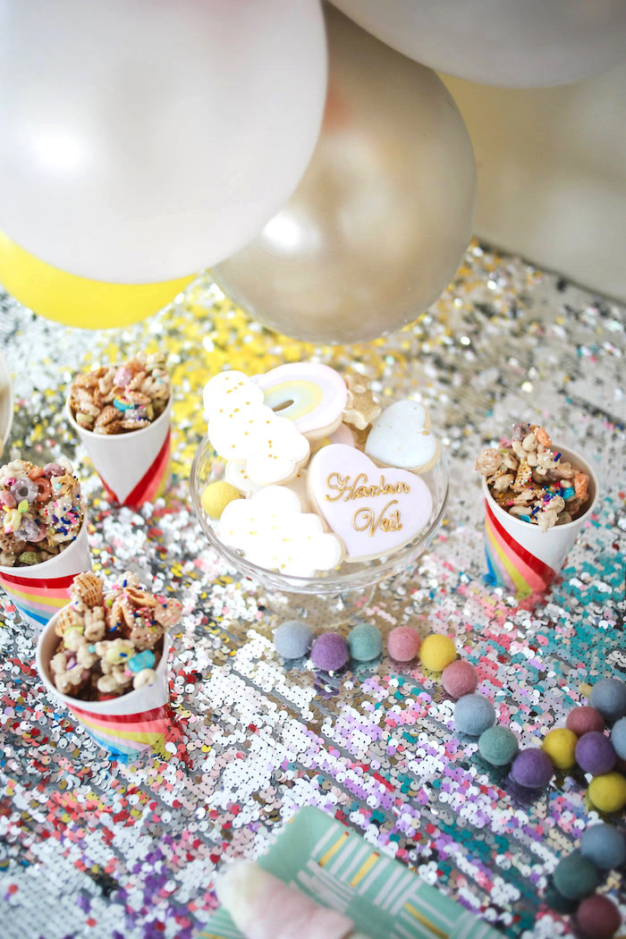 Snack Cups & Cookies from a Heart of Gold Birthday Party on Kara's Party Ideas | KarasPartyIdeas.com (14)