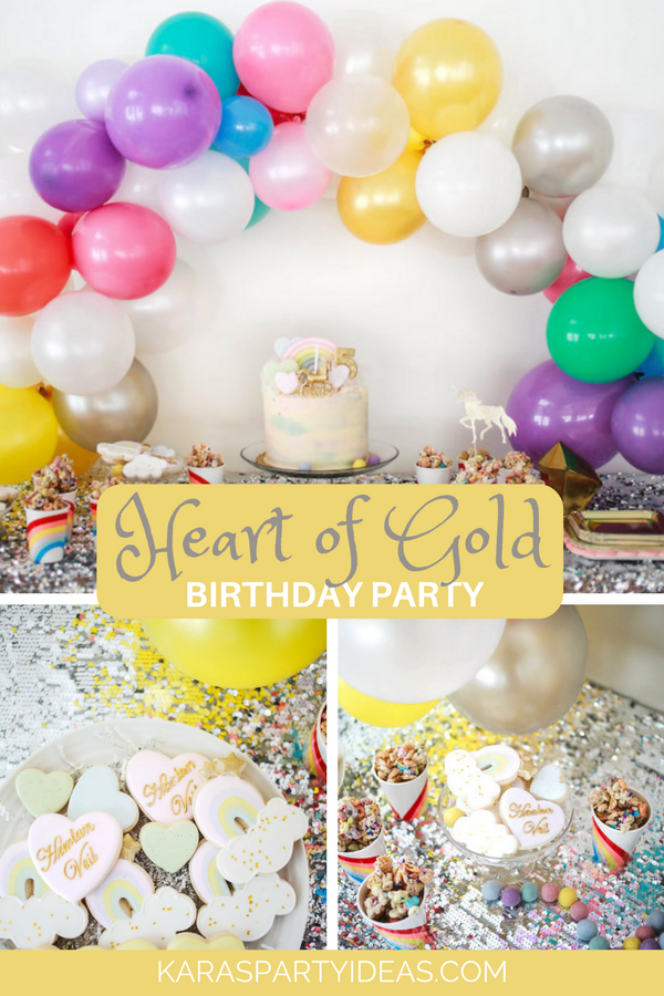 Heart of Gold Birthday Party via KarasPartyIdeas - KarasPartyIdeas.com
