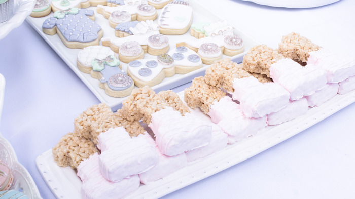 """1"" Rice Krispie Treats from a Hot Air Balloon Birthday Party on Kara's Party Ideas 