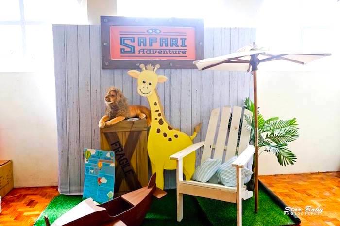 Safari Lounge from a Hot Air Balloon Safari Birthday Party on Kara's Party Ideas | KarasPartyIdeas.com (9)