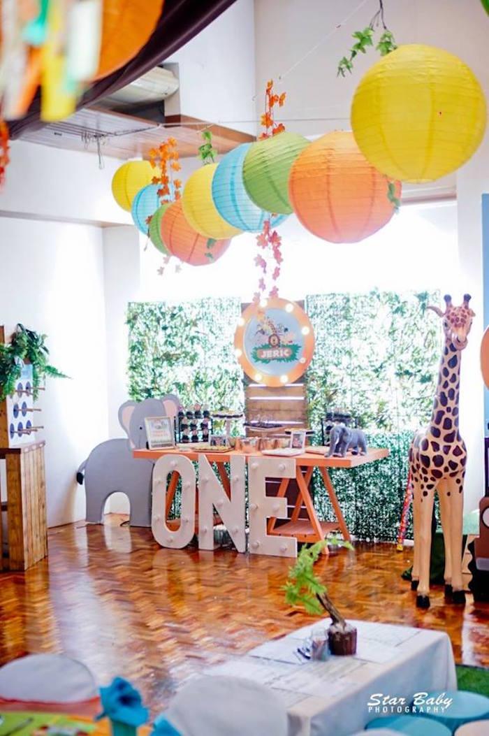 Safari Sweet Table from a Hot Air Balloon Safari Birthday Party on Kara's Party Ideas | KarasPartyIdeas.com (28)