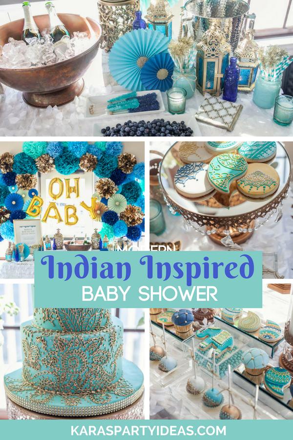 Indian Inspired Baby Shower via Kara's Party Ideas - KarasPartyIdeas.com (1)