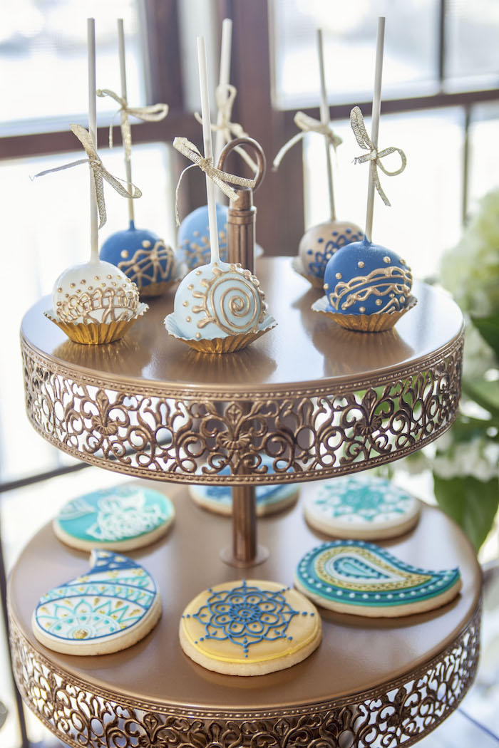 Cake Pops & Cookies from an Indian Inspired Baby Shower on Kara's Party Ideas | KarasPartyIdeas.com (14)