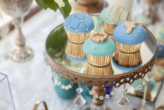 Cupcakes from an Indian Inspired Baby Shower on Kara's Party Ideas | KarasPartyIdeas.com (13)