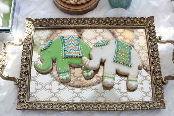 Elephant Cookies from an Indian Inspired Baby Shower on Kara's Party Ideas | KarasPartyIdeas.com (25)