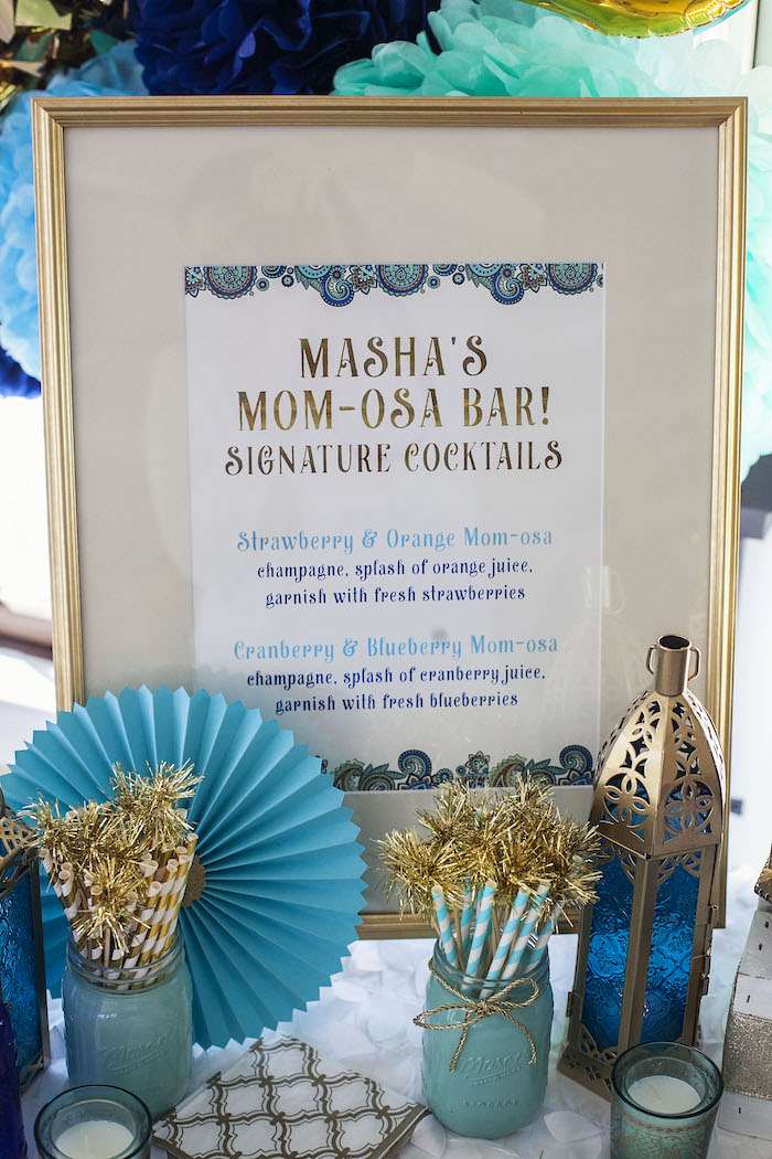 Signage from an Indian Inspired Baby Shower on Kara's Party Ideas | KarasPartyIdeas.com (24)