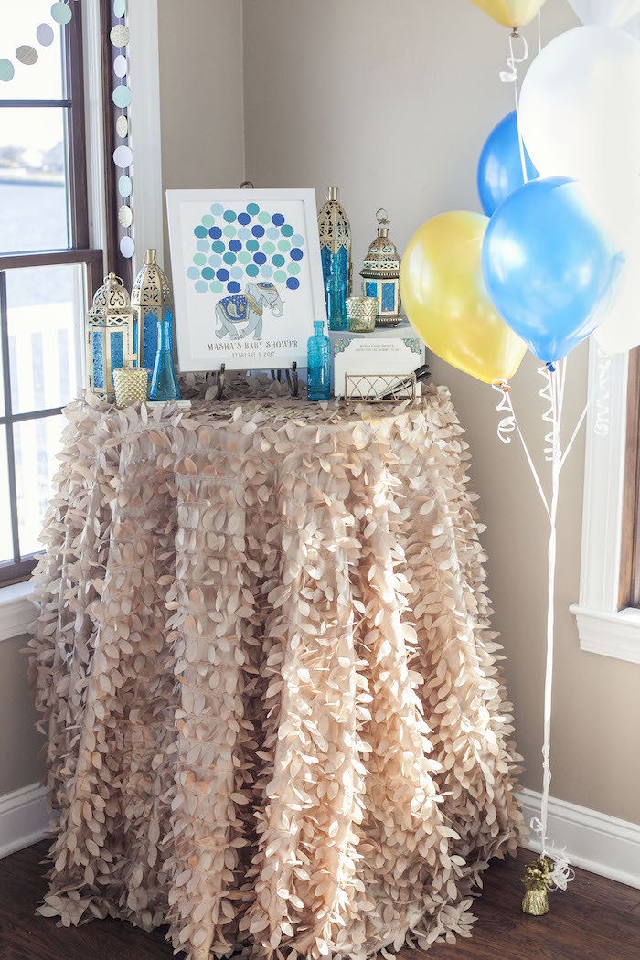 Party Table from an Indian Inspired Baby Shower on Kara's Party Ideas | KarasPartyIdeas.com (22)