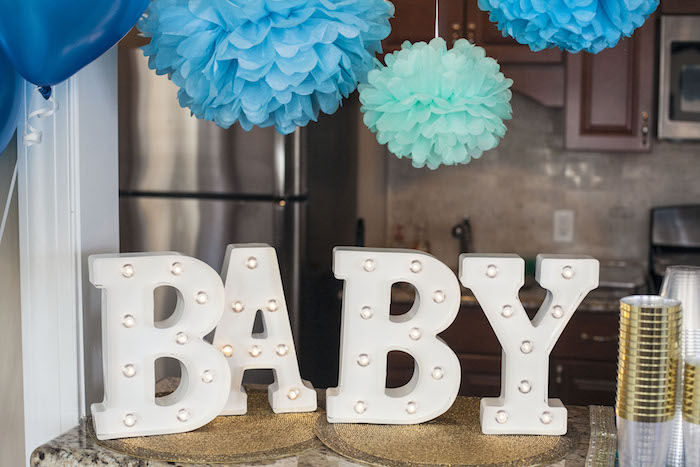 Baby Marquee Lights from an Indian Inspired Baby Shower on Kara's Party Ideas | KarasPartyIdeas.com (21)