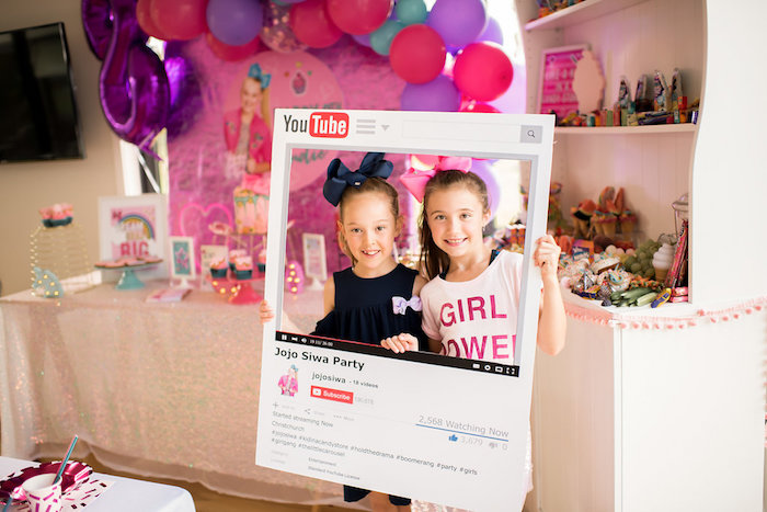 02beae60da9 YouTube Photo Fame from a JoJo Siwa Inspired Girly Birthday Party on Kara s  Party Ideas