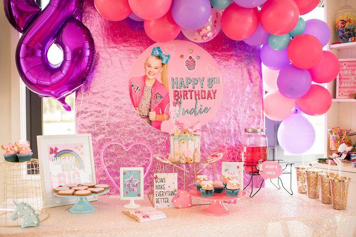 Kara S Party Ideas Jojo Siwa Inspired Girly Birthday Party
