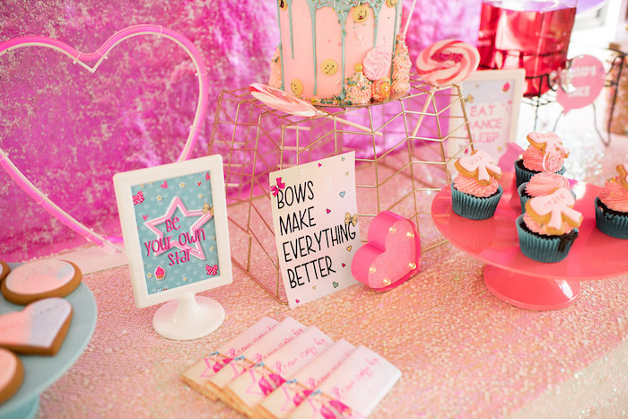 Kara S Party Ideas Jojo Siwa Inspired Girly Birthday Party