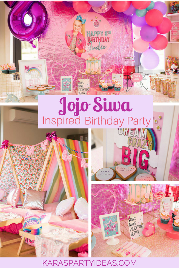 JoJo Siwa Inspired Girly Birthday Party Via Karas Ideas