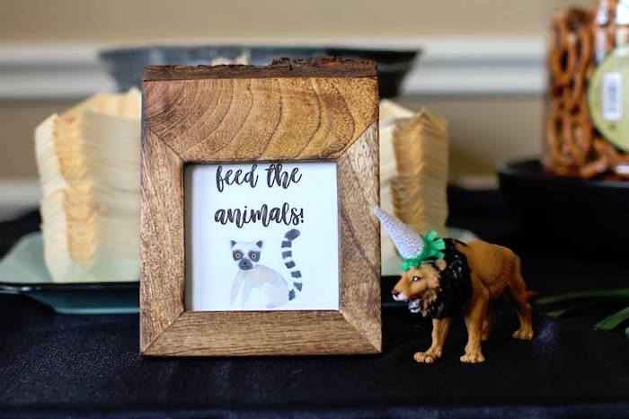 Food Signage + Table from a Jungle Animal Birthday Party on Kara's Party Ideas | KarasPartyIdeas.com (23)