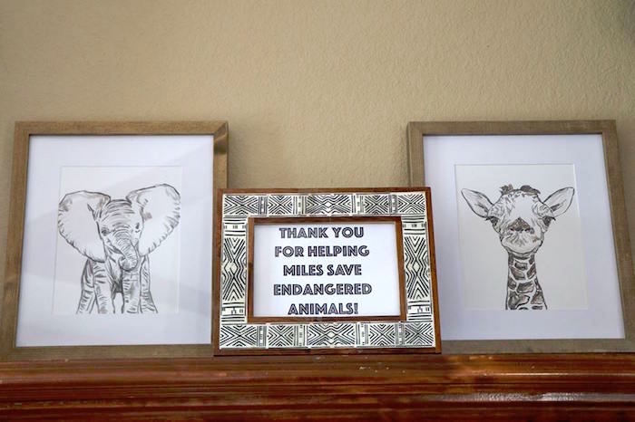 Animal Signage from a Jungle Animal Birthday Party on Kara's Party Ideas | KarasPartyIdeas.com (20)