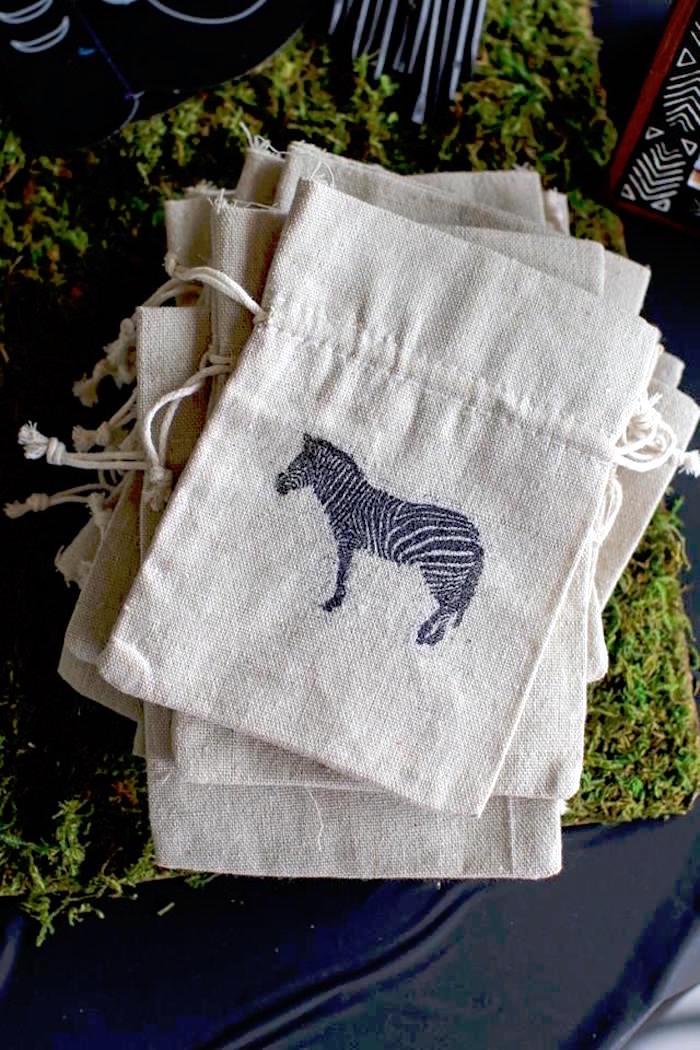 Drawstring Bags from a Jungle Animal Birthday Party on Kara's Party Ideas | KarasPartyIdeas.com (15)
