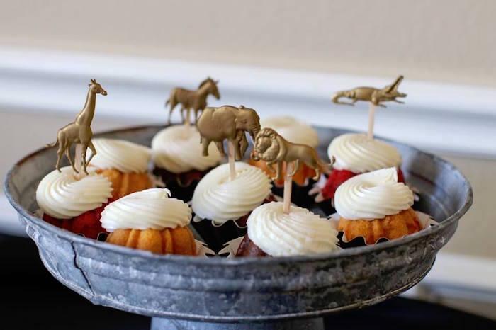 Safari Animal Cupcakes from a Jungle Animal Birthday Party on Kara's Party Ideas | KarasPartyIdeas.com (14)