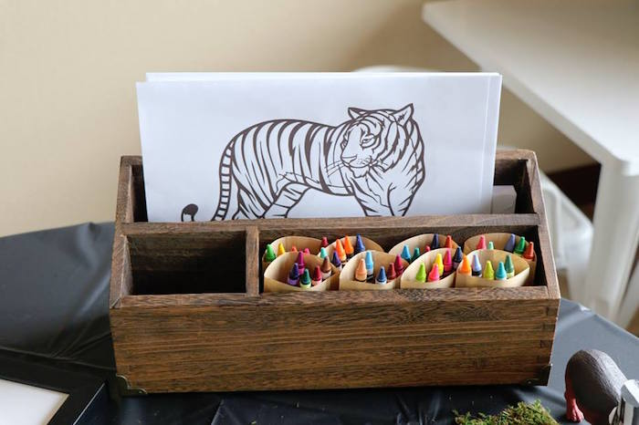Coloring Pages from a Jungle Animal Birthday Party on Kara's Party Ideas | KarasPartyIdeas.com (8)