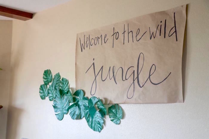 Welcome Signage from a Jungle Animal Birthday Party on Kara's Party Ideas | KarasPartyIdeas.com (7)