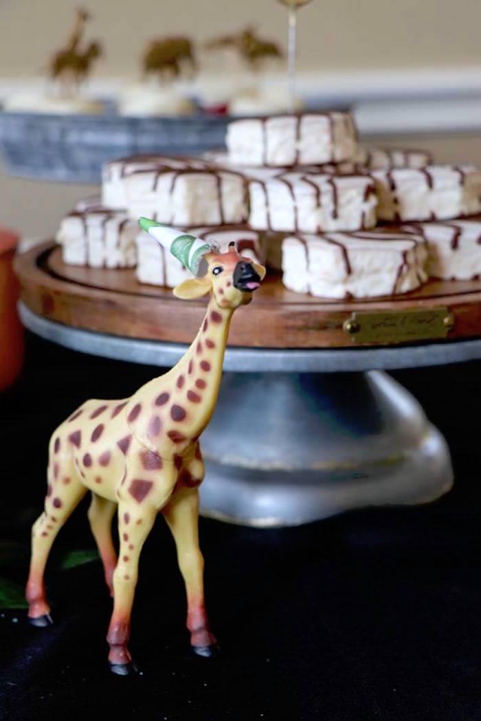 Party Giraffe from a Jungle Animal Birthday Party on Kara's Party Ideas | KarasPartyIdeas.com (30)