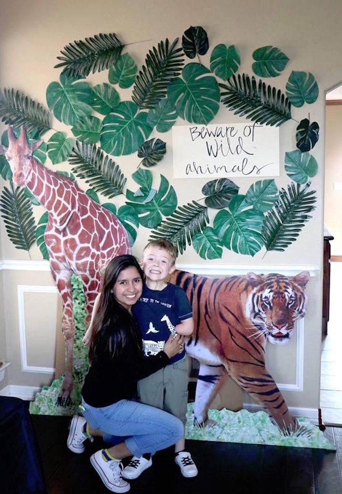 Jungle Photo Booth from a Jungle Animal Birthday Party on Kara's Party Ideas | KarasPartyIdeas.com (29)