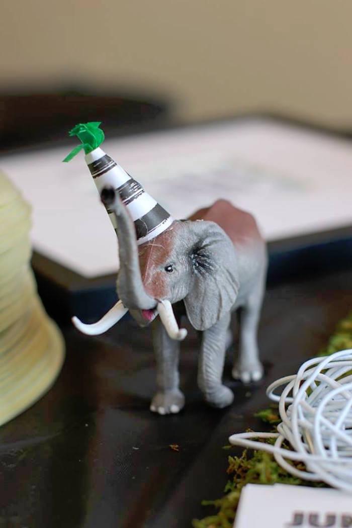 Party Elephant from a Jungle Animal Birthday Party on Kara's Party Ideas | KarasPartyIdeas.com (28)