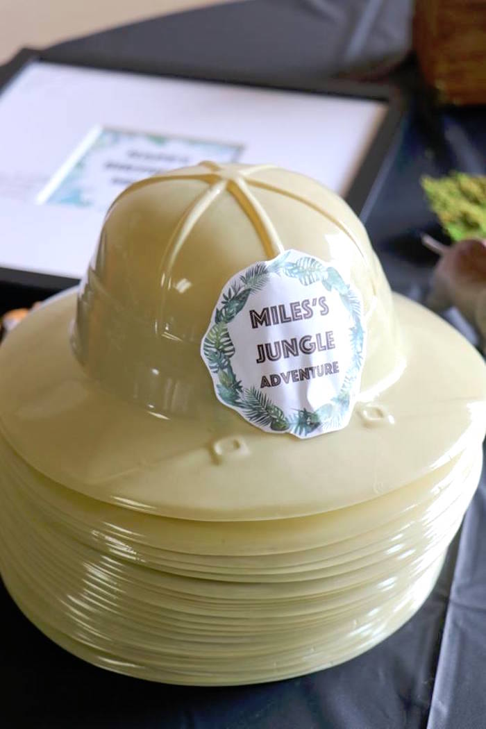 Jungle Hats from a Jungle Animal Birthday Party on Kara's Party Ideas | KarasPartyIdeas.com (27)
