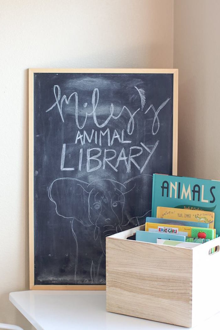 Animal Library + Chalkboard Signage from a Jungle Animal Birthday Party on Kara's Party Ideas | KarasPartyIdeas.com (26)